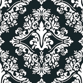 Vector damask seamless pattern element for wallpapers, textile, wrapping.