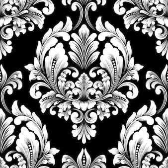 ベクトルダマスクシームレスパターン要素。