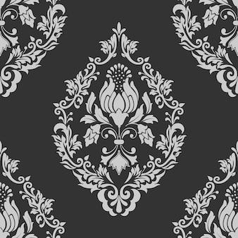 ベクトルダマスクシームレスパターン要素