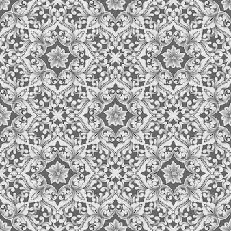 Vector damask seamless pattern.