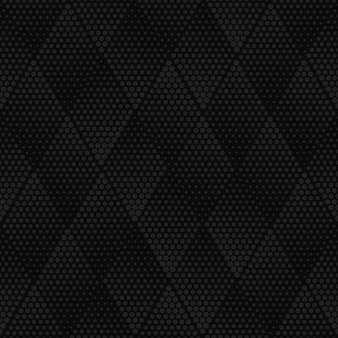 Vector dark gray geometric halftone seamless pattern