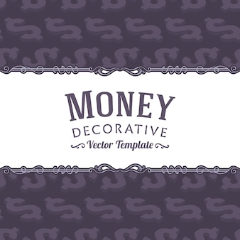 Vector decorating design made of isometric dollar symbols