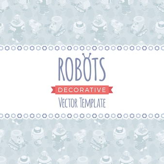 Vector decorating design made of robots