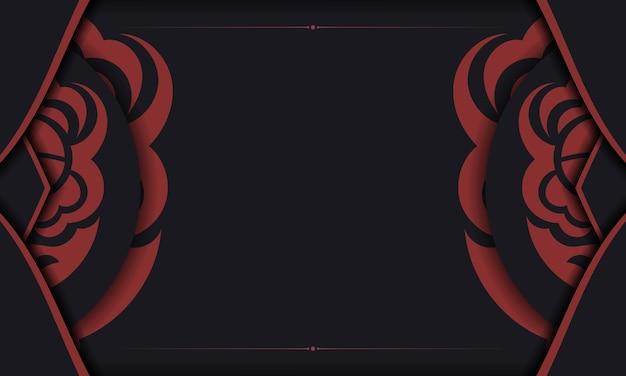 Векторный дизайн фона с роскошными узорами. черный баннер с орнаментом маори для вашего логотипа.