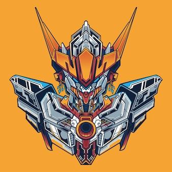 Vector design barbatos gundam detail illustration