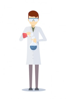 Vector design of chemistry scientist.