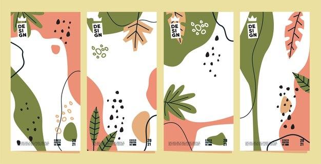 여름 포스터 배경 및 표지의 벡터 디자인 컬렉션