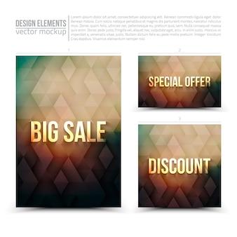 Векторные элементы дизайна flyer card баннер