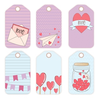 Vector design elements for a gift on valentine's day
