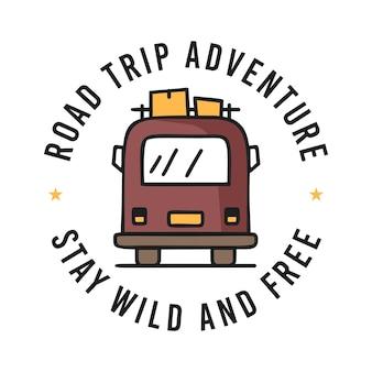 여행을 위한 캠핑카의 벡터 디자인