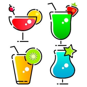 カクテルや飲み物のロゴのベクターデザイン