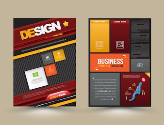 Vector design page template modern style