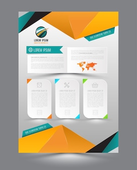 Vector design page template origami modern style
