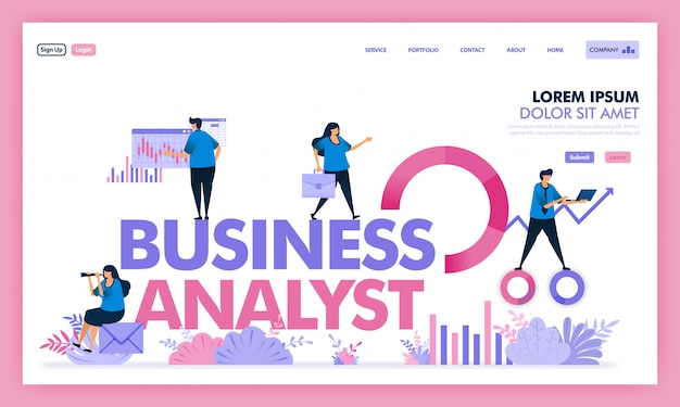 Vector design of people analyze problem in business to get solution