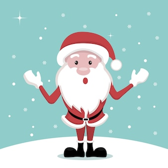 Vector design of santa claus cartoon christmas card