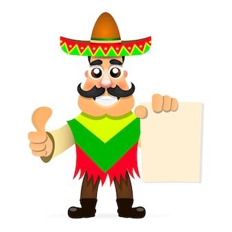 Шаблон дизайна вектор для мексиканского ресторана. мексиканская еда