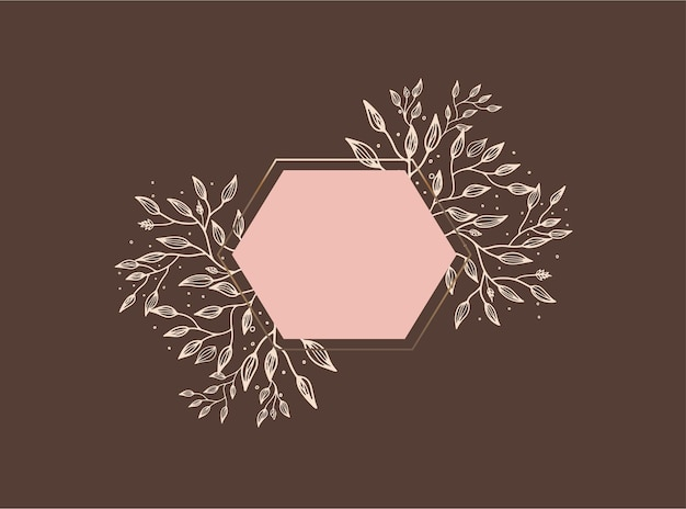 텍스트, 꽃, 나뭇잎을 위한 복사 공간이 있는 단순하고 현대적인 스타일의 벡터 디자인 템플릿 - 결혼식 초대장 배경 및 프레임, 소셜 미디어 스토리 월페이퍼