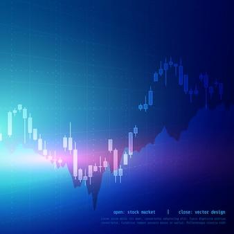 株式市場のベクトルデジタルキャンドルスティックグラフデザイン