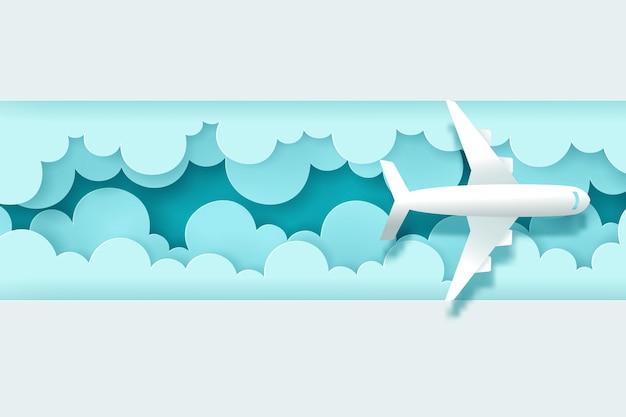 旅行バナーのベクトルデジタルクラフト、旅行の概念への時間。 eps10ベクトル。