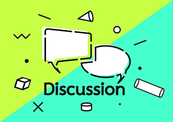 Vector discussion creative concept background