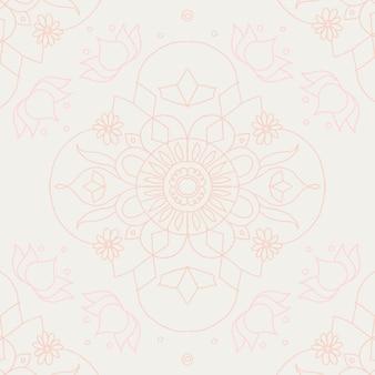 Vector diwali indian mandala background