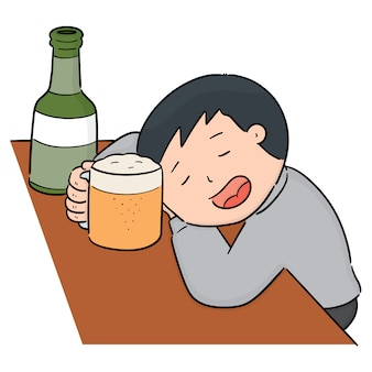 Vector of drunker