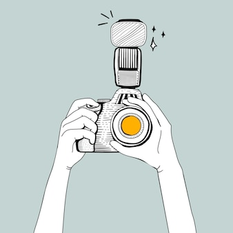 Vector of dslr camera