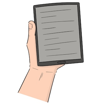 Vector of e-book reader