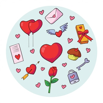 Vector element of valentine day