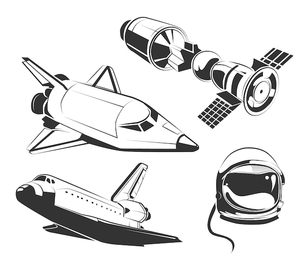 Vector elements for vintage space