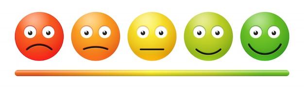 白のベクトル感情フィードバックスケール