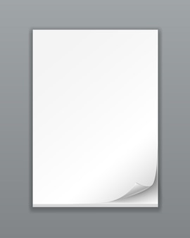 Pila di carta vuota di vettore su bianco