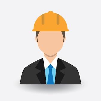 Вектор инженер цвет аватар значок
