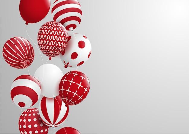 抽象的なと祝賀カラフルな装飾的なバルーン.vector eps10と背景。