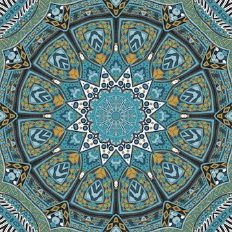 ベクトル民族抽象シームレスお祭りパターン背景装飾