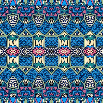 Vector ethnic abstract seamless vintage pattern background ornamental.