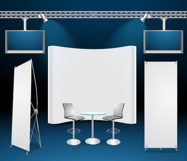 Vector exhibition stands design