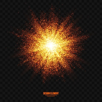 Vector explosion light effect transparent background