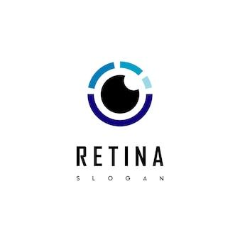 ベクトルの目のロゴ、セキュリティ会社の網膜スキャンのロゴ