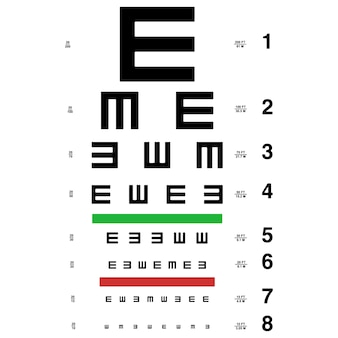 Vector eye test chart.