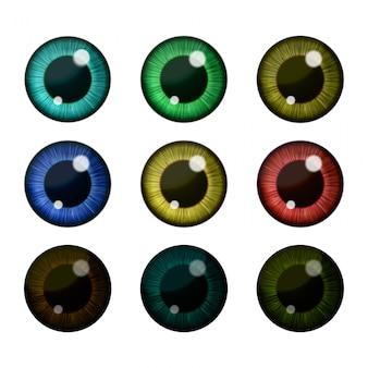 Векторная коллекция глаз.