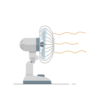 Vector fan electric with wind airflow