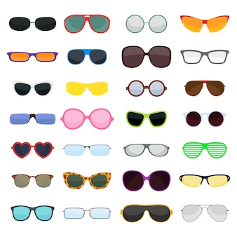 Vector fashion glasses isolated