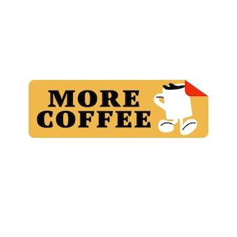 벡터 패스트 푸드 스티커입니다. 커피숍을 위한 다채로운 패치 배지.