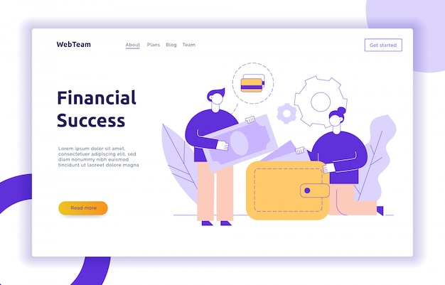 Vector finance and business strategy web banner