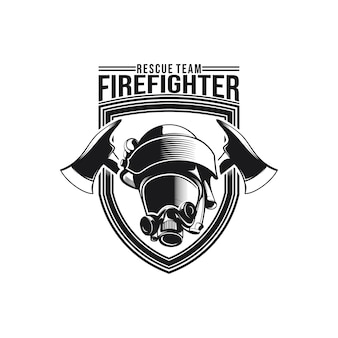 Vector of fire fighter logo design