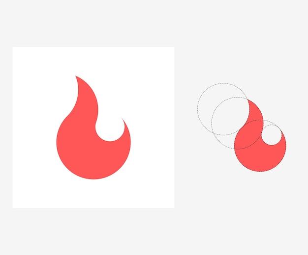 Вектор огонь в стиле золотого сечения. редактируемая иллюстрация