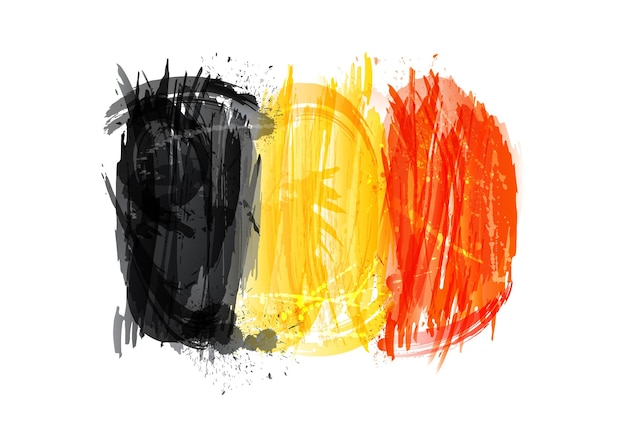 Vector flag of belgium made with colorful splashes
