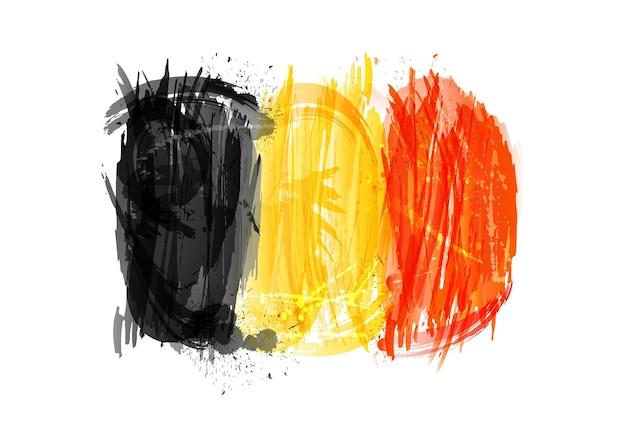 다채로운 밝아진 만든 벨기에의 벡터 플래그