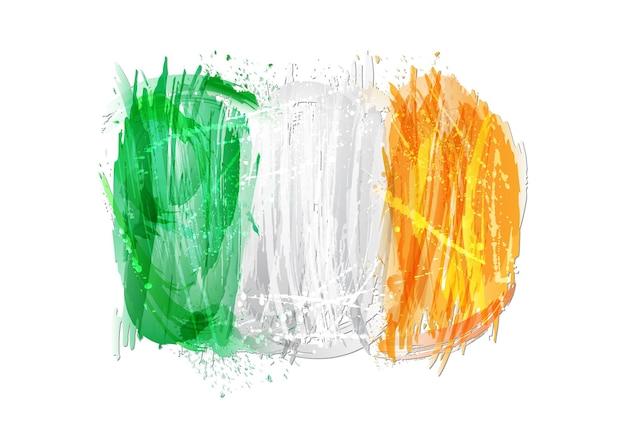 다채로운 밝아진 만든 아일랜드의 벡터 플래그